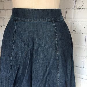 Blue Jean Denim 100% Cotton w/Pockets Skirt